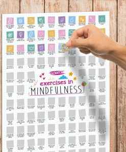100 Exercises in Mindfulness Scratch Poster