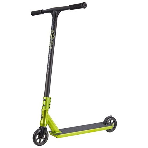 chilli metallic green stunt scooter