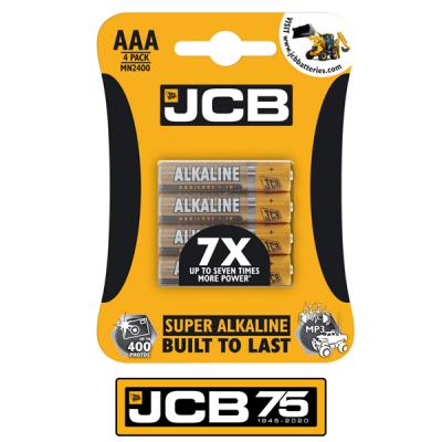 AAA Alkaline Batteries JCB