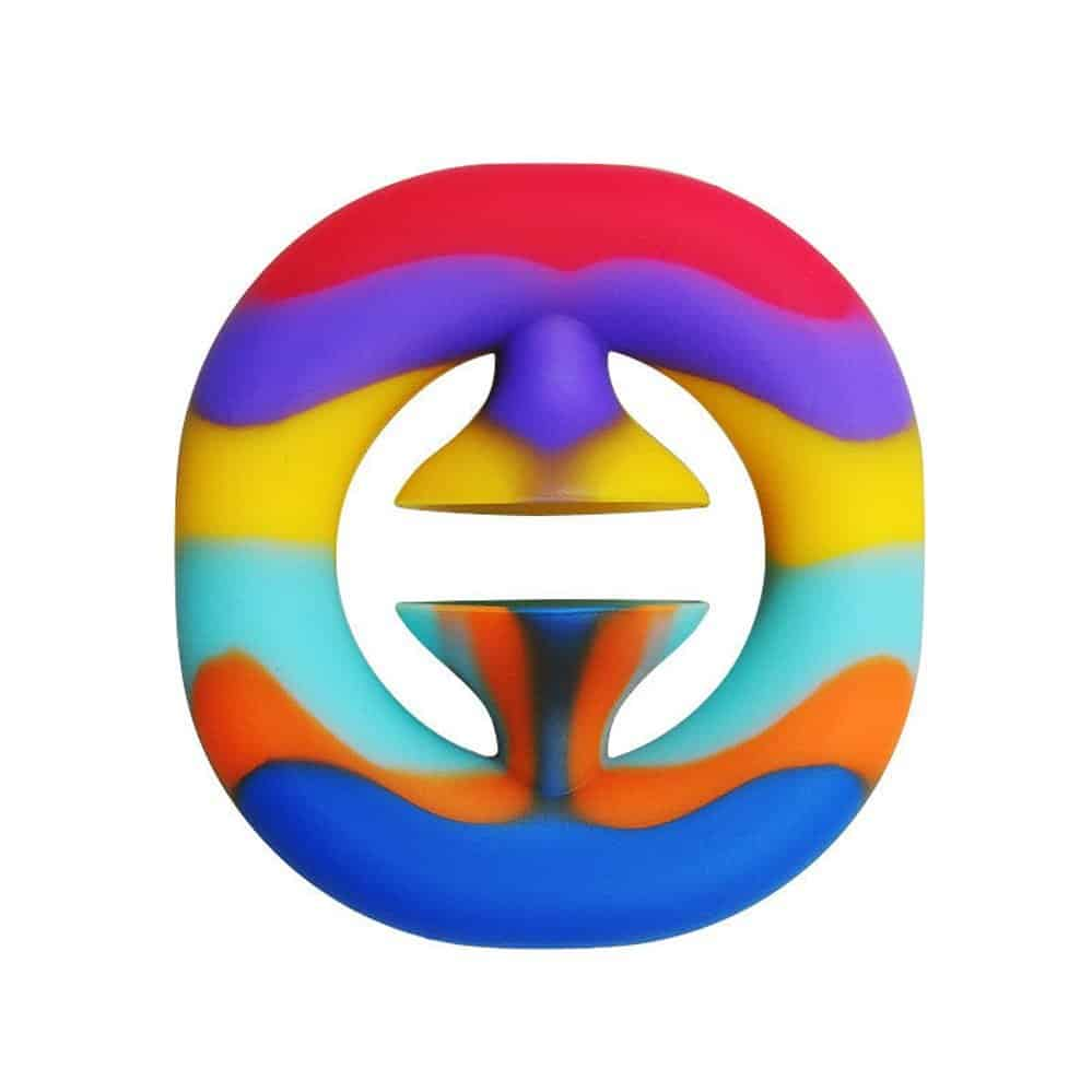 Rainbow snapper sensory toy