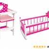 Wooden High Chair and Cradle Set