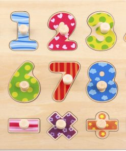 Wooden Number Puzzle 16pce