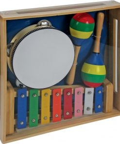 wooden plain musical set