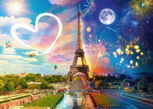 Paris Day and Night 2000 piece jigsaw puzzle
