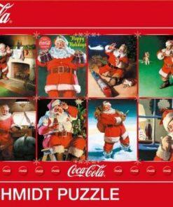Coca Cola Santa Clause Happy Holidays 1000pc