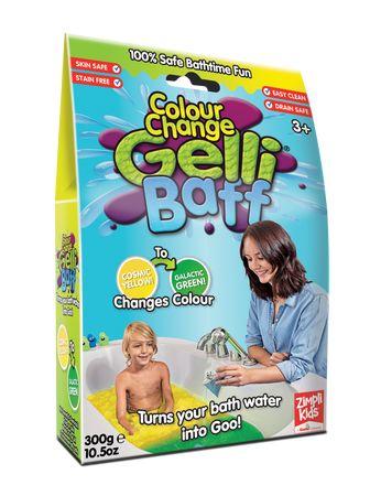 Colour Change Gelli Baff Yellow to Green